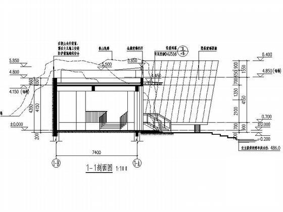 茶室设计立面图 - 1