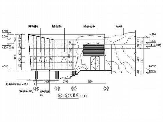 茶室设计立面图 - 2