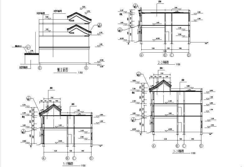 中式仿古建筑设计 - 4