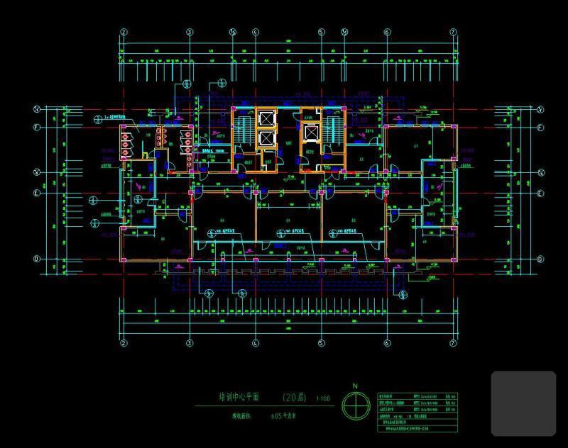 办公楼底层平面图 - 3