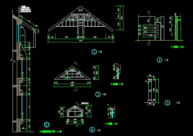 中式别墅建筑施工图 - 1