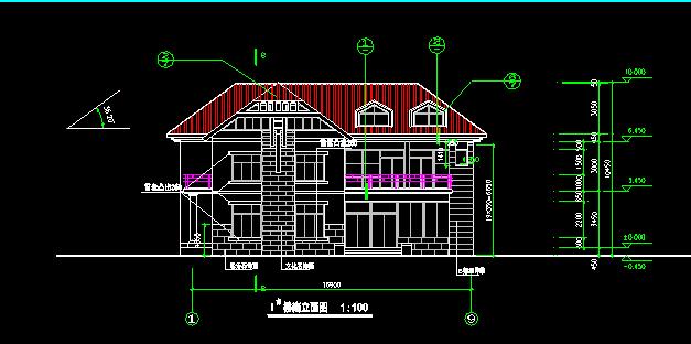 中式别墅建筑施工图 - 3