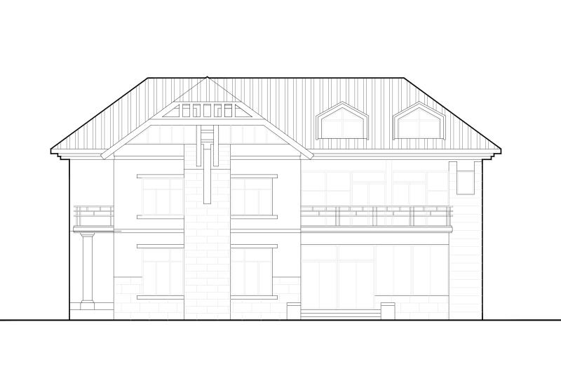 中式别墅建筑施工图 - 4