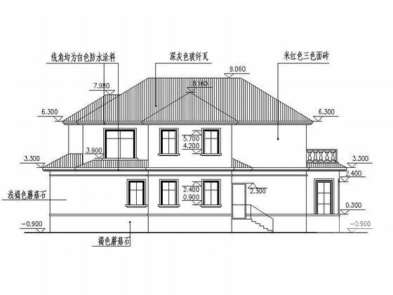 别墅建筑设计效果图 - 5