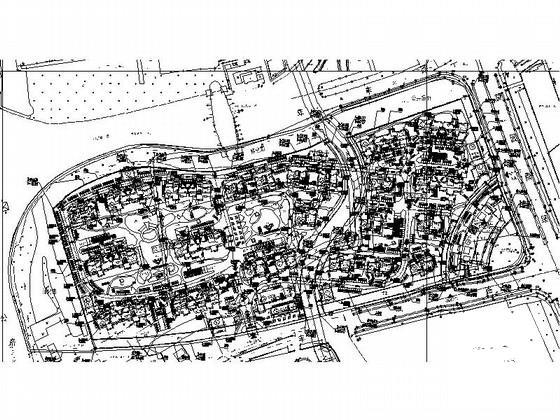 豪华小区规划建筑dwg格式CAD图纸(初设图纸)