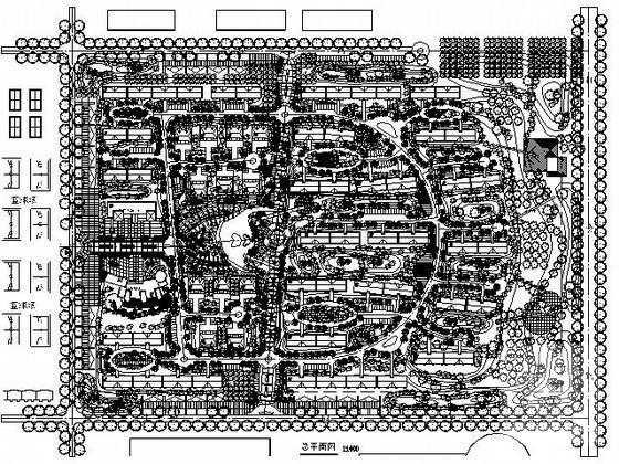 [建筑面积]高校教师住宅小区规划总平面