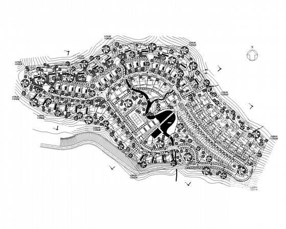 [总CAD平面图]别墅区规划建筑dwg格式图纸(初设图纸)