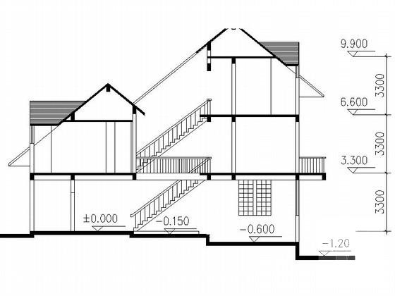 双拼别墅平面图 - 1