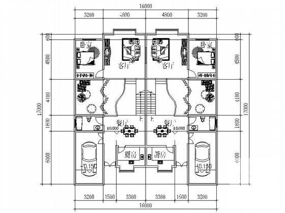 双拼别墅平面图 - 4