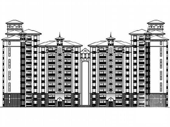 [现代风格]12层西班牙式小高层住宅楼建筑方案设计CAD图纸