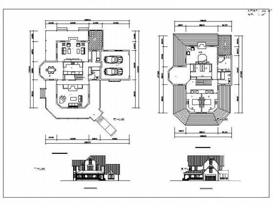 风格别墅建筑方案图 - 1