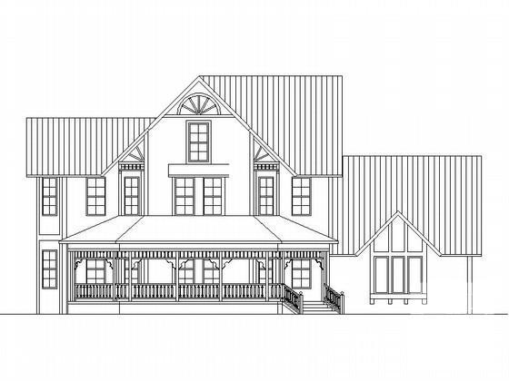 风格别墅建筑方案图 - 3