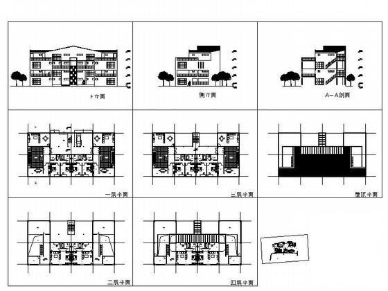 双拼别墅建筑设计图 - 4