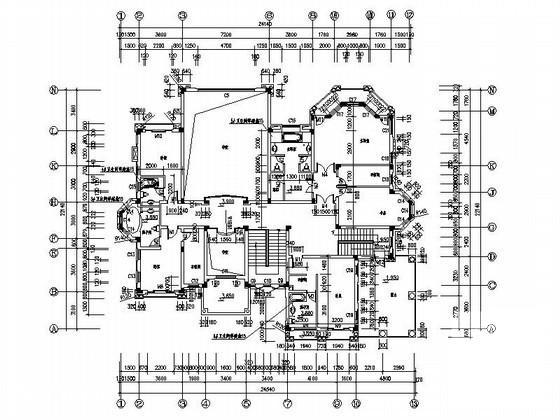 豪华别墅平面图 - 2
