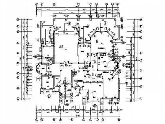 豪华别墅平面图 - 3