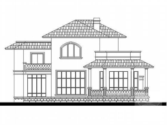 别墅屋顶平面效果图 - 1