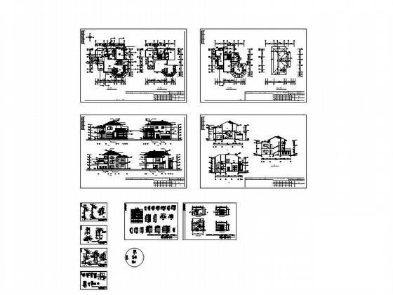 别墅屋顶平面效果图 - 2