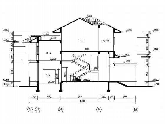 别墅屋顶平面效果图 - 4