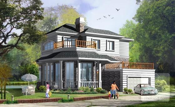 别墅屋顶平面效果图 - 5