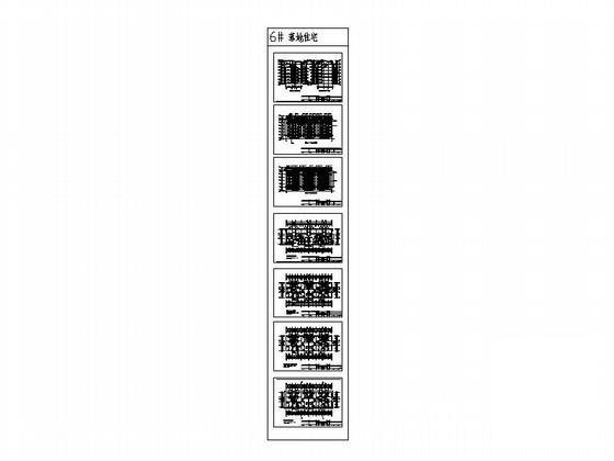 塔式住宅平面图 - 1