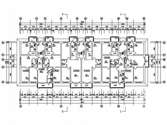 塔式住宅平面图 - 4