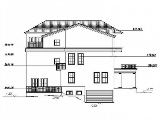 双拼别墅建筑设计 - 2