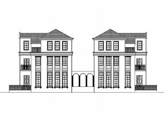 双拼别墅建筑设计 - 4