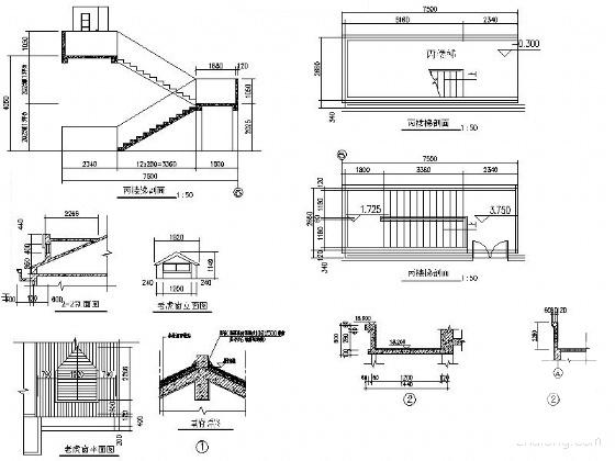 住宅楼建筑平面图 - 1
