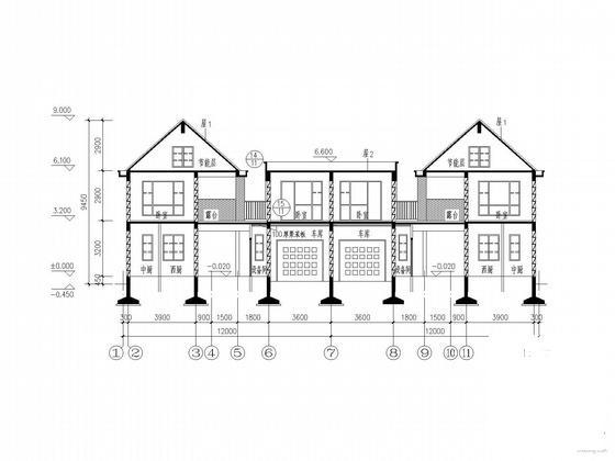 双拼别墅建筑施工图 - 3