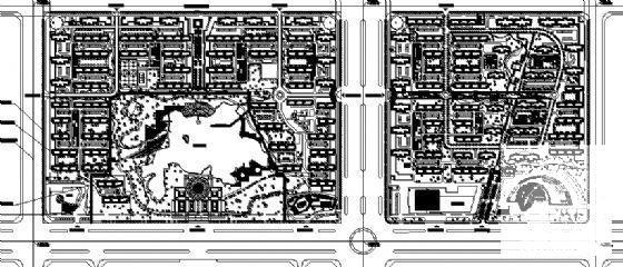[建筑面积]大型800亩小区规划建筑设计CAD图纸