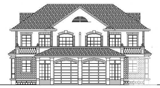 双拼别墅建筑设计图 - 3