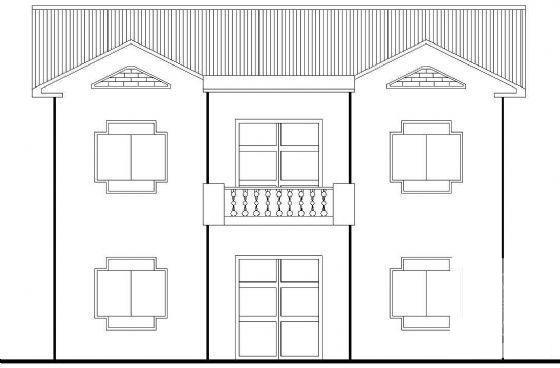 农村二层别墅建筑 - 2