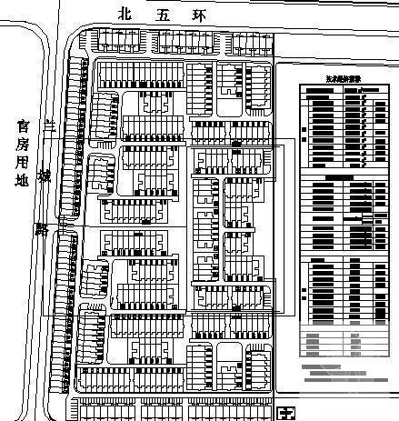 [某住宅小区]比较简单的住宅小区建筑设计CAD图纸