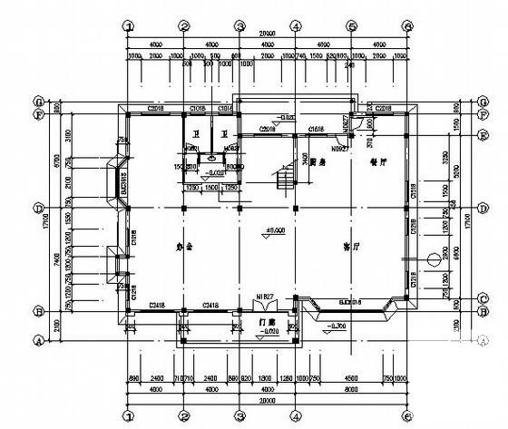 单体别墅施工图 - 3