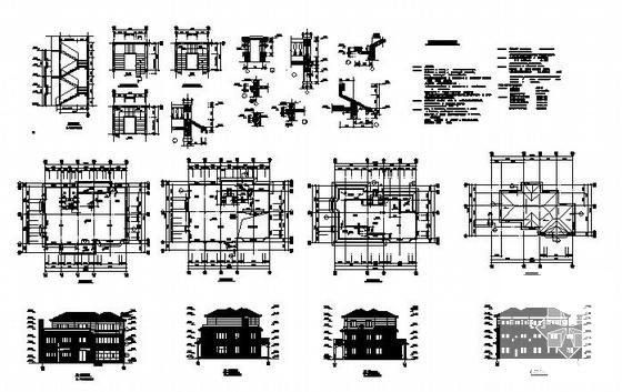 单体别墅施工图 - 4
