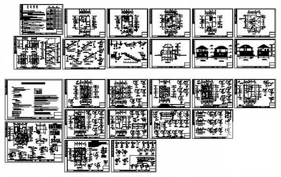 别墅建筑平面图 - 1