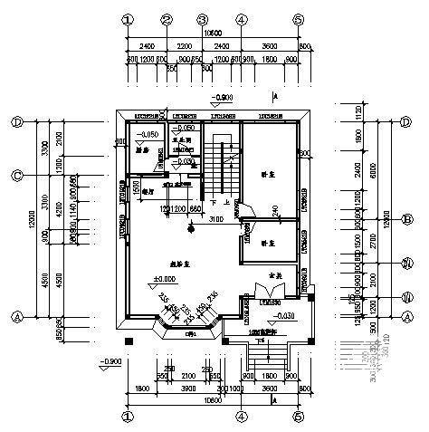 别墅建筑平面图 - 2