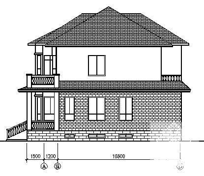 别墅建筑平面图 - 3