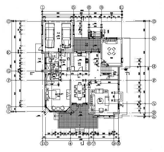 别墅平面方案设计 - 1