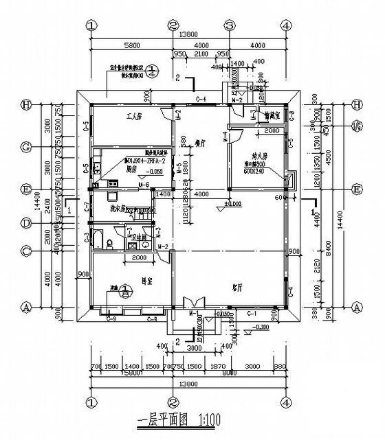 二层别墅建筑施工图 - 4