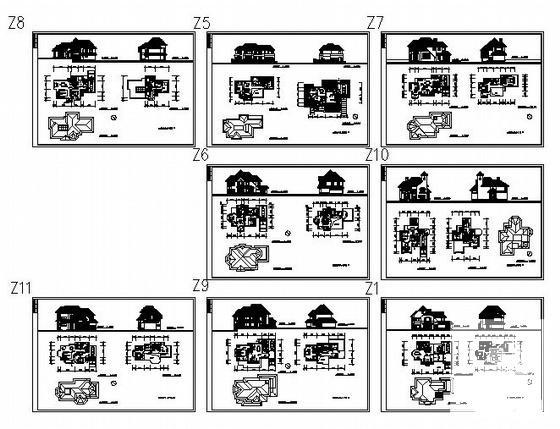 两层别墅平面图 - 1