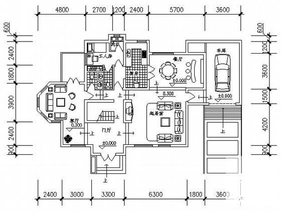 两层别墅平面图 - 4