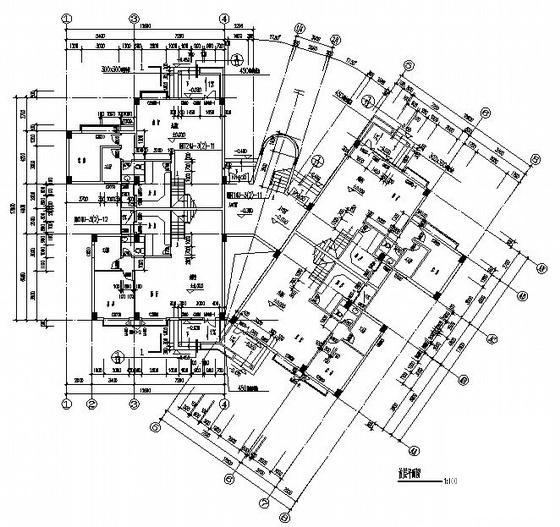 复式公寓施工图 - 1