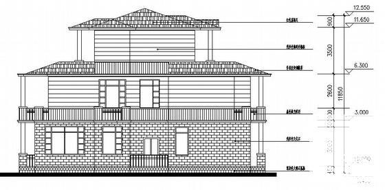 别墅建筑立面图 - 2