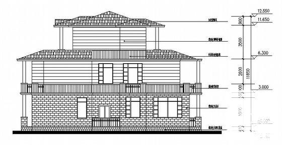 别墅建筑立面图 - 4