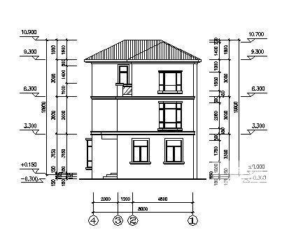 别墅设计图纸施工图 - 3