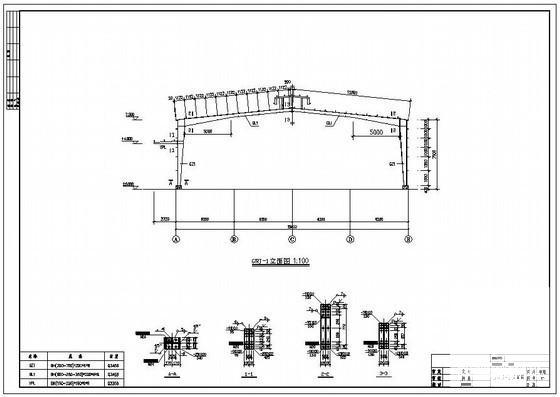 单层轻钢结构厂房图 - 3