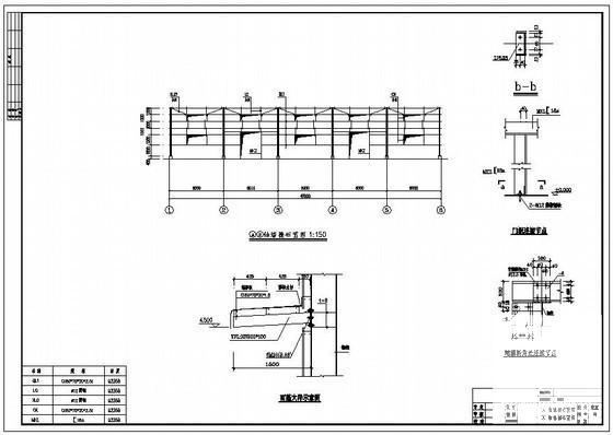 单层轻钢结构厂房图 - 4