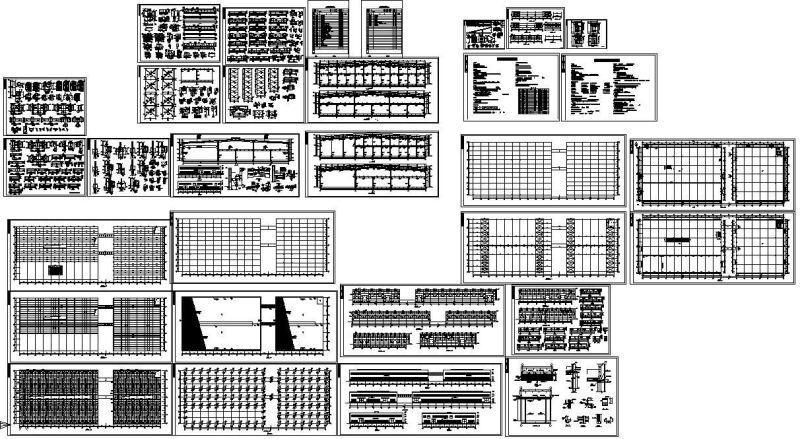 轻钢结构厂房施工图 - 1