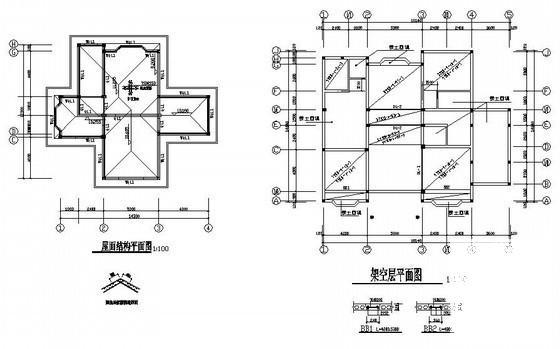 别墅全套建筑施工图 - 2